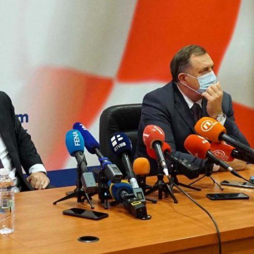 Čović i Dodik u Mostaru: Veliki broj aktivnosti vodimo, vrlo jasno, zajednički