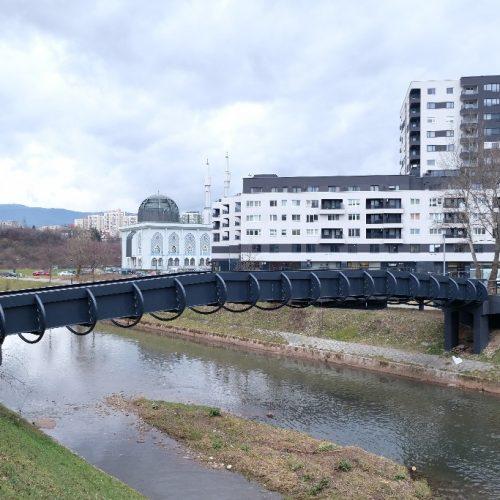 Obnovljen pješački most preko Miljacke na Otoci