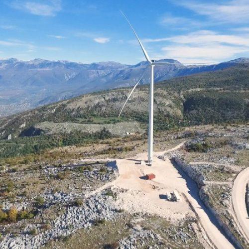 Vjetroelektrana Podveležje – Proizvedeni prvi kilovatsati električne energije (Video)