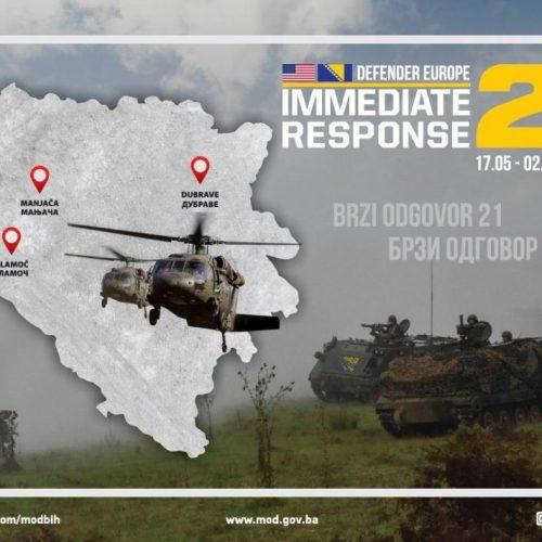 """Završne pripreme Oružanih snaga BiH za bilateralnu vježbu """"Brzi odgovor 21"""""""