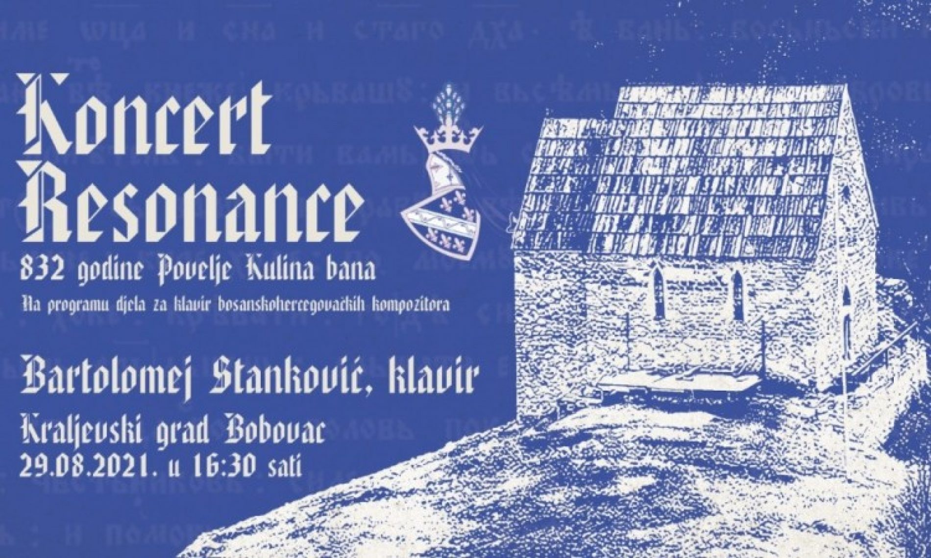 Obilježavanje 932. godišnjice Povelje Kulina bana – koncert na Bobovcu, tribina u Tuzli