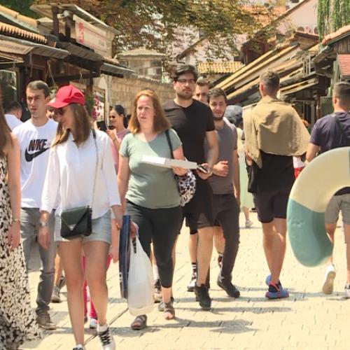 Sve je više turista u glavnom gradu Bosne i Hercegovine