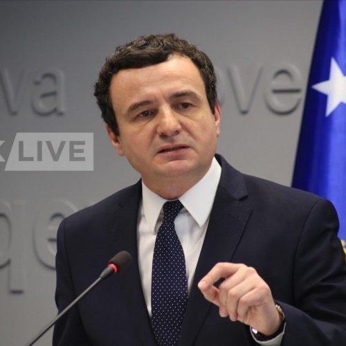 Kurti: Uspostavljen reciprocitet na tablice sa Srbijom